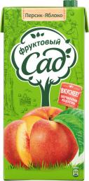 Характеристрики и размер товара Фруктовый Сад Персик-Яблоко нектар с мякотью 1,93 л