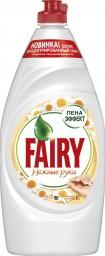 Характеристрики и размер товара FAIRY Средство для мытья посуды Нежные руки Ромашка и витамин Е 900мл