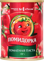 Характеристрики и размер товара Паста томатная Помидорка ж/б 380г