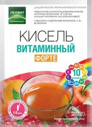 Характеристрики и размер товара БиоИнновации Кисель витаминный форте, 5 пакетов по 20 г