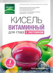 Характеристрики и размер товара БиоИнновации Кисель витаминный для глаз с лютеином, 5 пакетов по 18 г