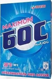 Характеристрики и размер товара Отбеливатель Бос плюс Макс 600г, 00000216